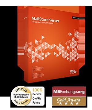 MailStore Server Boxshot - Software pro emailovou archivaci pro malé a střední podniky