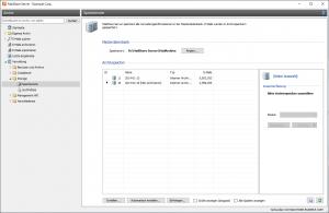 Verwaltung von Archivspeichern in MailStore Server