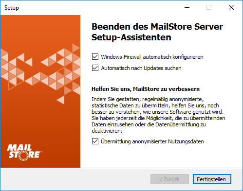 Telemetrie in MailStore Home per Opt-in aktivieren
