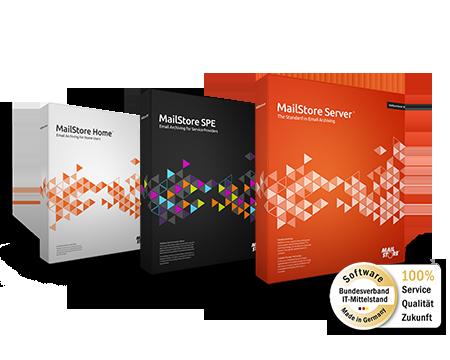 Die MailStore E-Mail-Archivierungslösungen - MailStore Server, MailStore SPE und MailStore Home