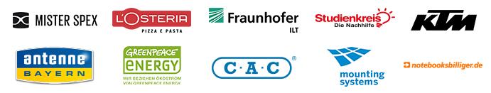 Unsere Referenzen in Deutschland, Österreich und der Schweiz
