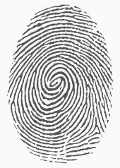 Bild zeigt einen Fingerabdruck