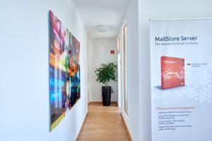 Der Eingangsbereich der MailStore Software GmbH