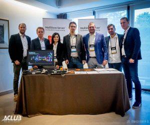 Unser MailStore Team zusammen mit Achab beim Aclub