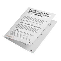 PDF-Whitepaper Möglichkeiten der E-MailArchivierung für Exchange Server im Vergleich