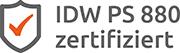 Logo IDW PS 880 zertifiziert