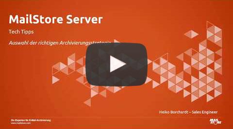 Video Die richtige Archivierungsstrategie