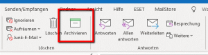 Der mysteriöse Archivieren-Button im Outlook Menüband