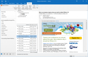 Screenshot of Add-in for Microsoft Outlook
