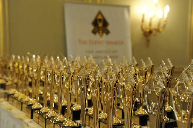 The STEVIE awards are waiting for their prize-winners