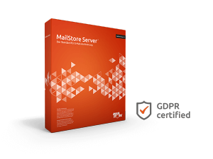 MailStore Server Boxshot with GDPR Certificate