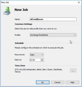 Create new Job