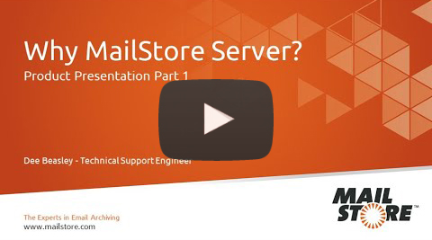 MailStore Product Video Part 1