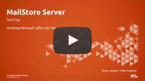 Video Thumbnail archiving Microsoft 365 using Mailstore Server