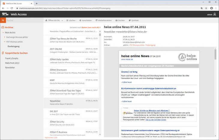 MailStore Web Access