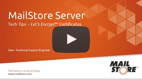 Video Thumbnail How to set up Let's Encrypt™ TLS Certificates