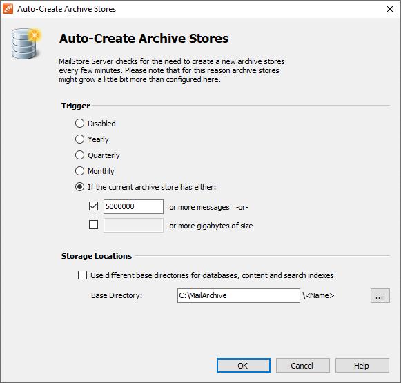 configuration archive stores