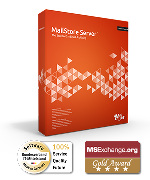 MailStore Serverボックスショット - 中小企業向けメールアーカイブソフトウェア