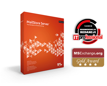 MailStore Server Boxshot - oprogramowanie do archiwizacji poczty elektronicznej dla małych i średnich firm
